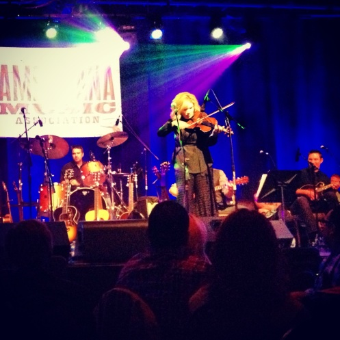 Alison Krauss on fiddle at Cross-County Lines on Sat. June 1